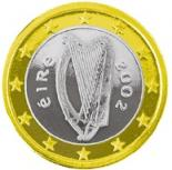 1 euro (other side, country Ireland) 1